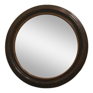 """Detailed 36"""" Round Mirror With Silver Specks For Sale"""