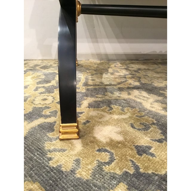 Transitional Lillian August for Hickory White Black and Gold Ziecel Writing Desk For Sale In Atlanta - Image 6 of 11
