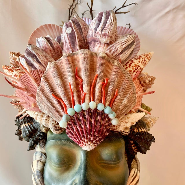 Memsaab Ungawa Ll African Princess Sculpture For Sale In West Palm - Image 6 of 8