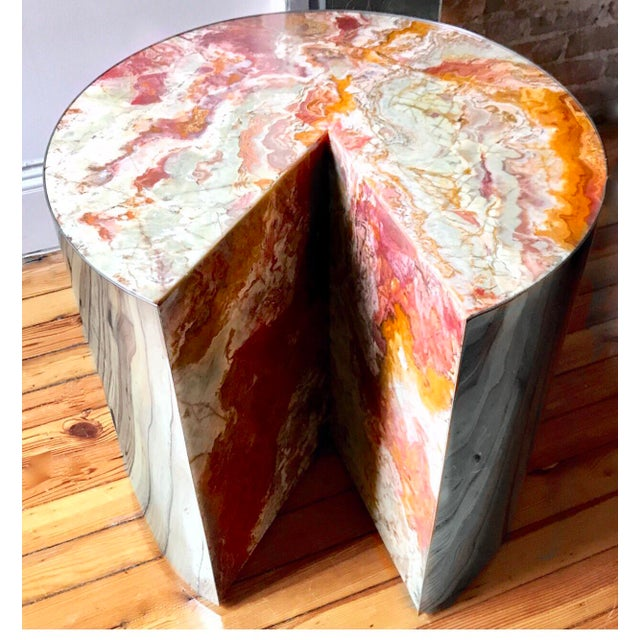 Final Markdown Pace Collection Red Jasper 'Pie' Side Table, 1970 - Image 2 of 9