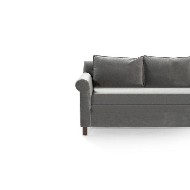 Edward Wormley for Dunbar Model 580 Velvet Sofa For Sale - Image 10 of 11
