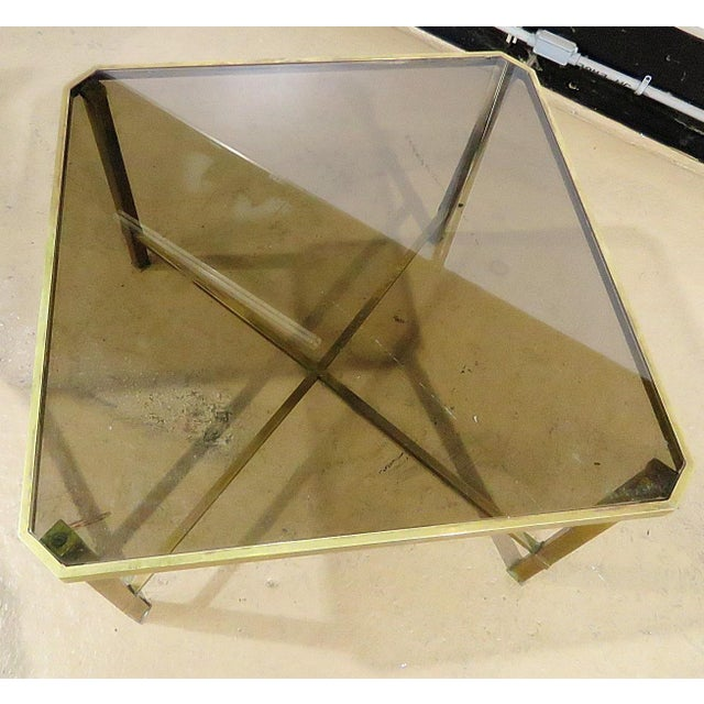 Italian Italian Modern Glass Top Coffee Table For Sale - Image 3 of 11