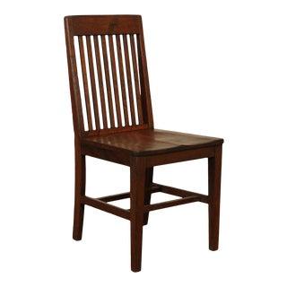 W. H. Gunlocke Antique Mission Oak Office Side Chair For Sale