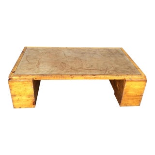 Henredon Leather Top Coffee Table For Sale