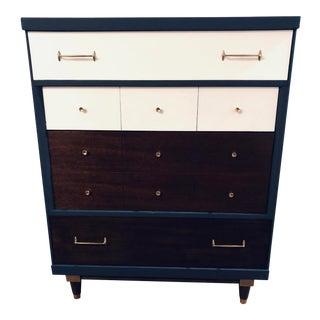 194s Danish Modern Highboy Dresser For Sale
