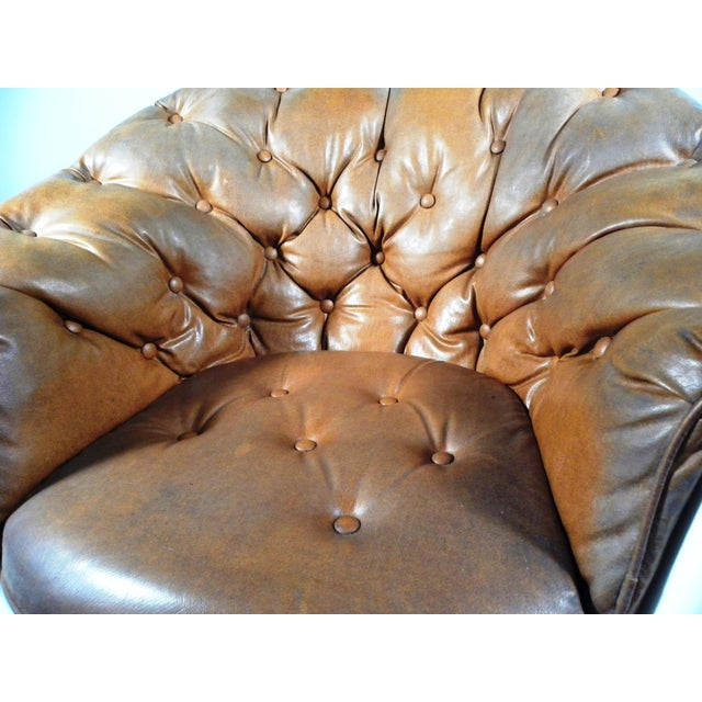 Mid-Century Tufted Bucket Chair - Image 6 of 8