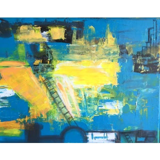 City Life Contemporary Abstract Painting For Sale