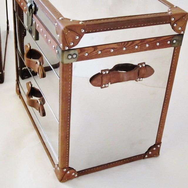 Restoration Hardware Trunk Chest Nightstands-Pair - Image 7 of 10