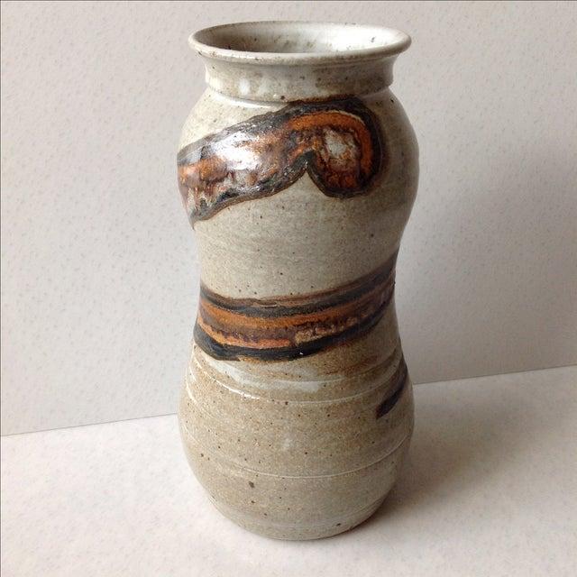 Studio Pottery Neutral Tone Glazed Vase - Image 4 of 11