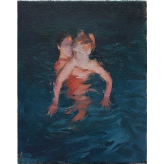 """Swimmers"" Painting Giclee Print For Sale"
