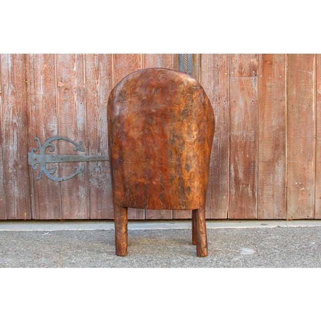 Brown Chunky Tribal Naga Chair For Sale - Image 8 of 10