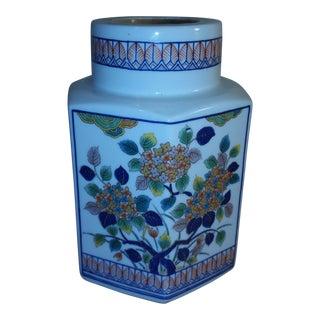 Porcelain Asian Candle Motif