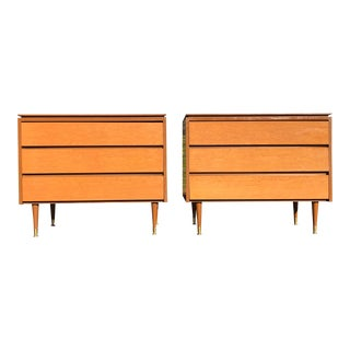 1950s Mid Century Heywood Wakefield Dressers - a Pair For Sale