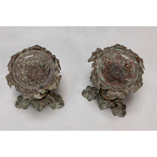 19th C. Tall Bronze French Tazzas - A Pair For Sale - Image 5 of 5