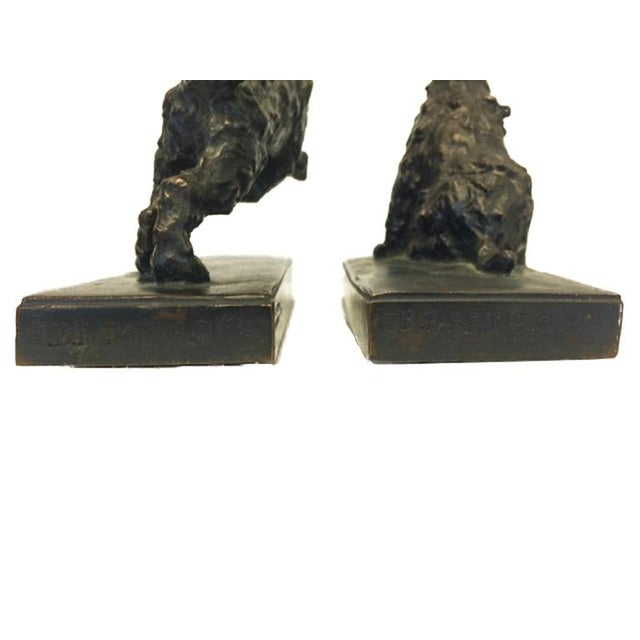 Bronze Terrier Dog Bookends - A Pair For Sale - Image 5 of 6