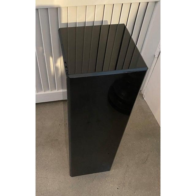 """Black Vintage Pedestal Black Lucite 26.5"""" High For Sale - Image 8 of 12"""