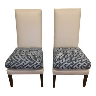 Custom Kravet De Paul Side Chairs - A Pair