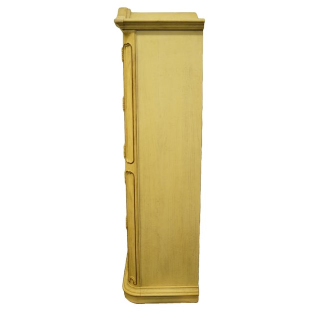 20th Century Italian Tuscan Stanley Furniture Painted Cream Clothing Armoire For Sale - Image 9 of 12