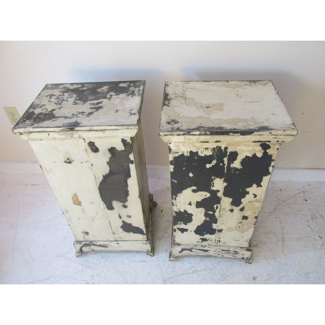 Antique French Shabby Chic Nightstands - A Pair - Image 10 of 10