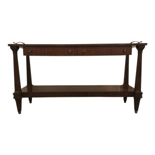 Transitional Henredon Lafayette Mahogany Finished Wood Server/Console Table For Sale