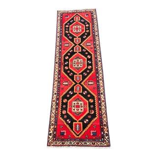"Vintage Persian Hamadan Runner Rug - 2'11""x9'9"" For Sale"