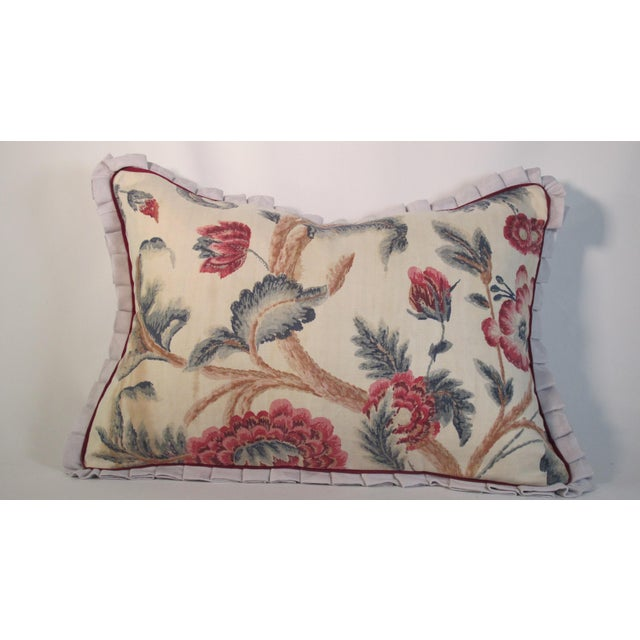 1920s Boho Chic Printed Linen Pillow For Sale - Image 4 of 4