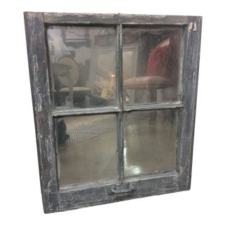 Vintage Mirrored Window Frame For Sale