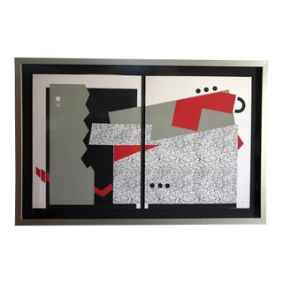 Very Large Post-Modern Printmaking Art From the 1980s. Artist Proof / Signed For Sale
