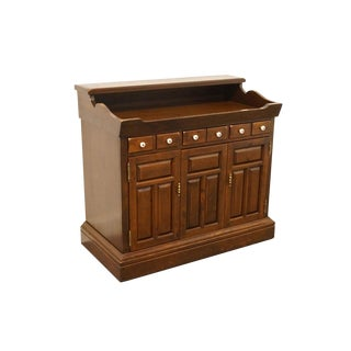 Ethan Allen Antiqued Pine Old Tavern Console Cabinet For Sale