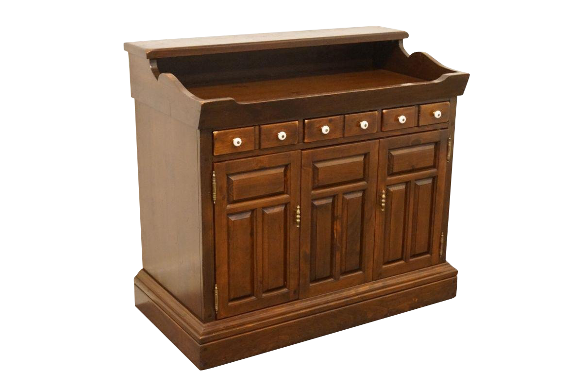 Merveilleux Ethan Allen Antiqued Pine Old Tavern Console Cabinet For Sale
