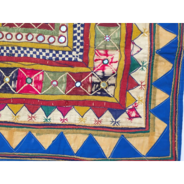 Late 19th Century Embroidered Ceremonial Chakla Cloth Textile For Sale - Image 4 of 11