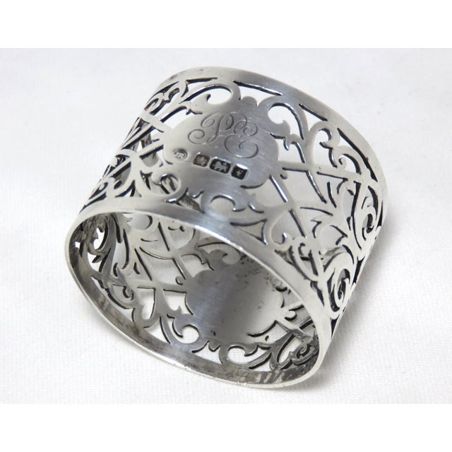 Early 20th Century Antique John Round Sterling Silver Napkin Ring For Sale In Boston - Image 6 of 7