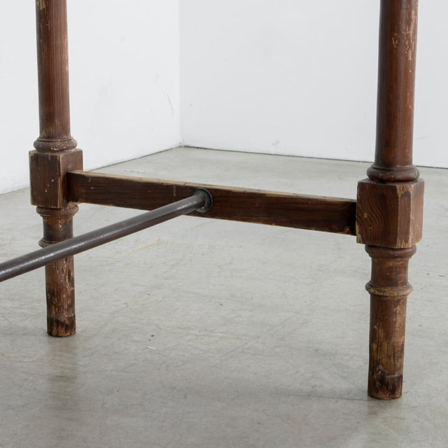 Brown Antique Belgian Side Table For Sale - Image 8 of 10