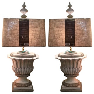 19th Century Urn Lamps - Pair For Sale