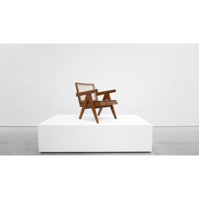 Brown 1955 Pierre Jeanneret Model Pj-Si-29-A Low Lounge Chair For Sale - Image 8 of 8