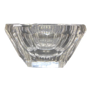 Val St Lambert Crystal Ashtray
