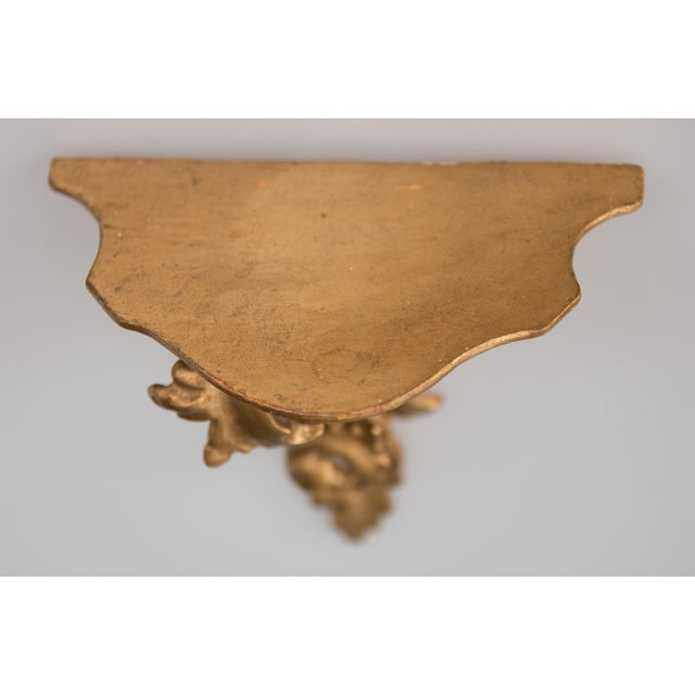 Mid 20th Century Italian Giltwood Decorative Wall Brackets - a Pair For Sale - Image 5 of 8