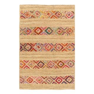 Pasargad Handmade Braided Cotton & Organic Jute Rug - 3' X 5' For Sale