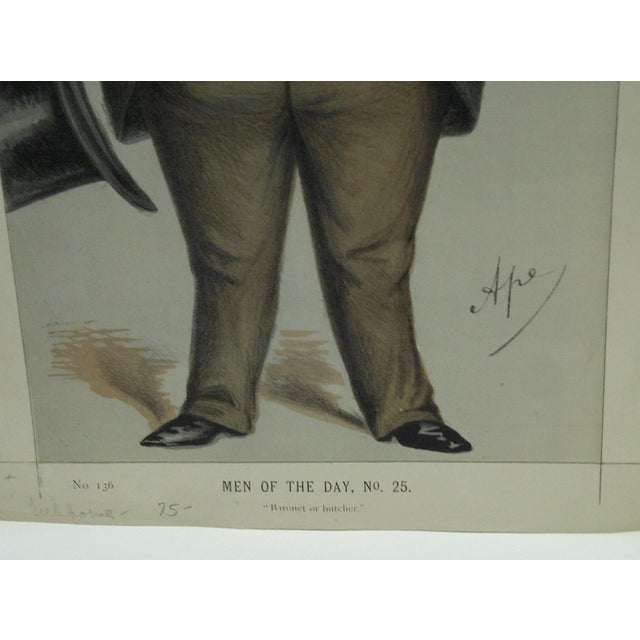 "Vintage ""Baronet or Butcher"" Vanity Fair Print For Sale - Image 4 of 4"