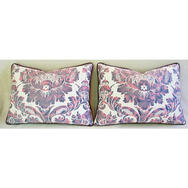 Designer Italian Fortuny Vivaldi Pillows - A Pair - Image 4 of 11