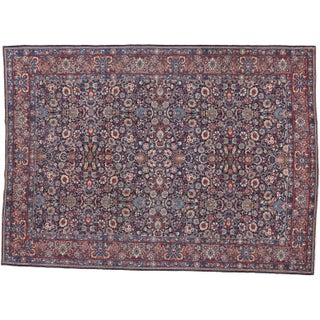 """Persian Tabriz Gallery Rug - 8'9"""" X 12' For Sale"""