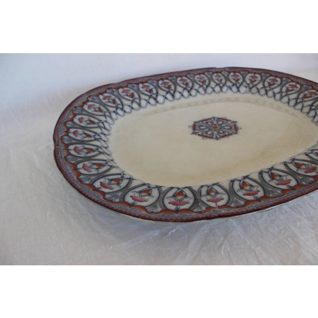 Large Arabian pattern English Staffordshire platter.