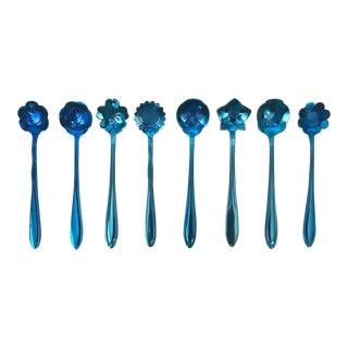 Floral Demitasse Spoons, Set of 8