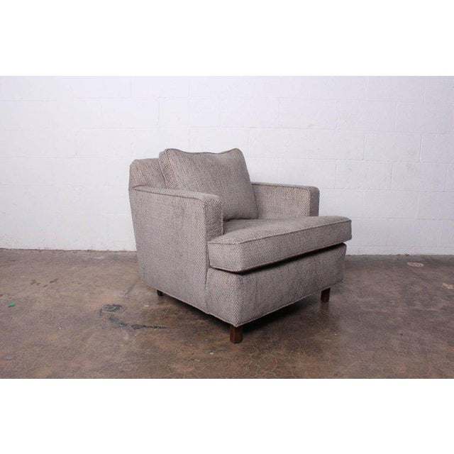 Gray Lounge Chair and Ottoman by Edward Wormley for Dunbar For Sale - Image 8 of 11