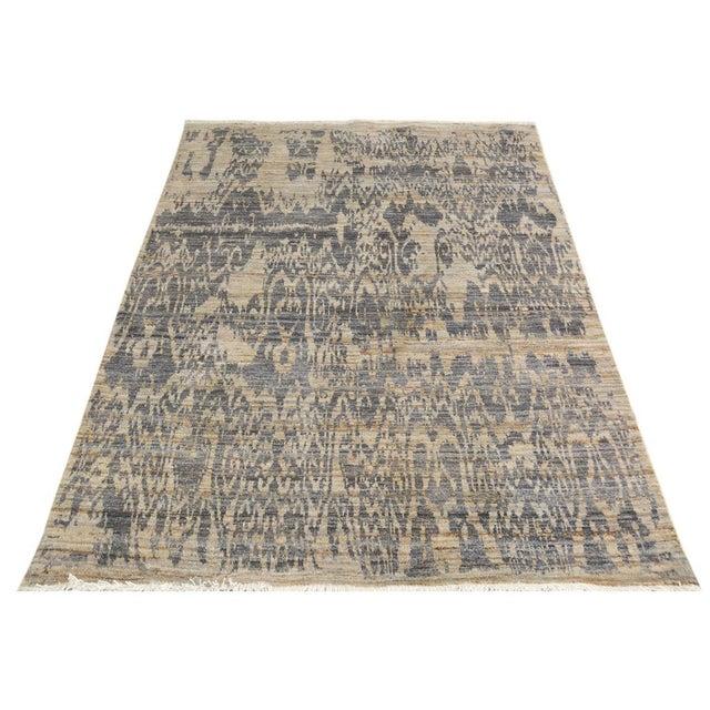 Kafkaz Peshawar Crysta Gray & Blue Wool Rug - 4'1 X 6'3 For Sale - Image 5 of 8