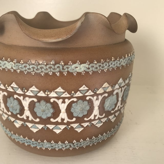 Ceramic 19th Century Art Nouveau Royal Doulton Silicon Ware Jardiniere For Sale - Image 7 of 13