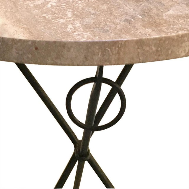 Vintage Italian Tripod Table For Sale - Image 4 of 5