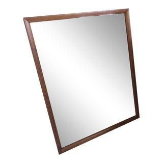 Henredon Walnut Wall Mirror For Sale