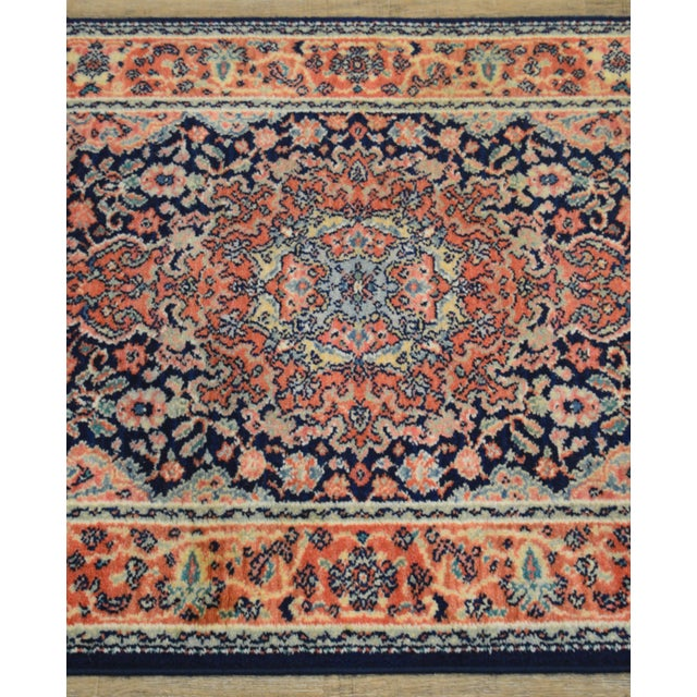"Maroon Karastan Kashan Medallion 2'10"" X 5' Throw Rug #741 (A) For Sale - Image 8 of 13"