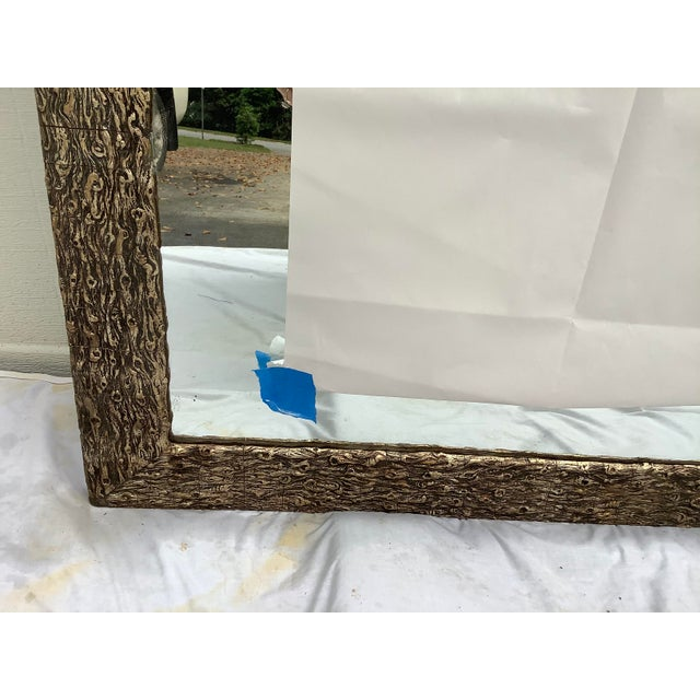 Silver French Faux Bois Mirror For Sale - Image 8 of 13